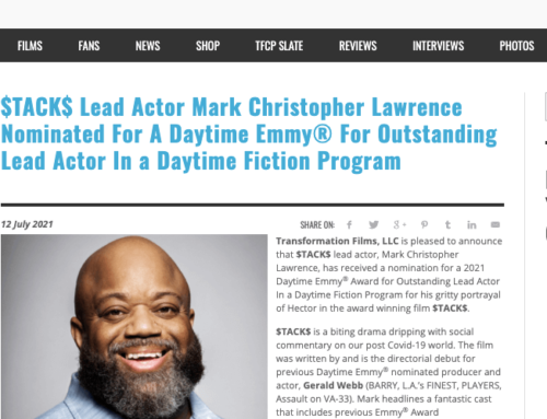 FanCarpet.com: $TACK$ Lead Actor Mark Christopher Lawrence Nominated For A Daytime Emmy® For Lead Actor